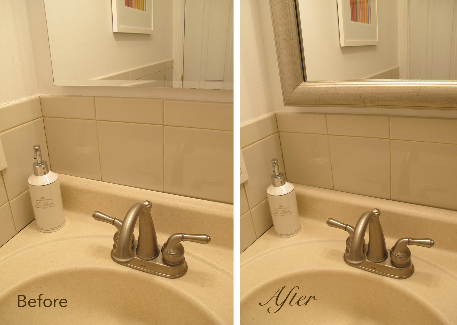 makeover pinterest home frames with little pin for j to mirror bathroom a the z