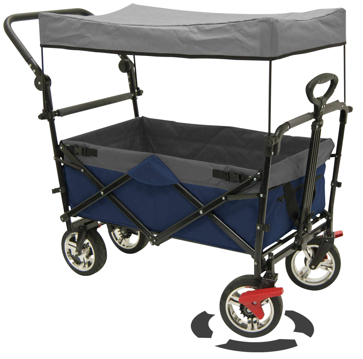 Creative Outdoor Distributor Of Push Pull Canopy Wagon