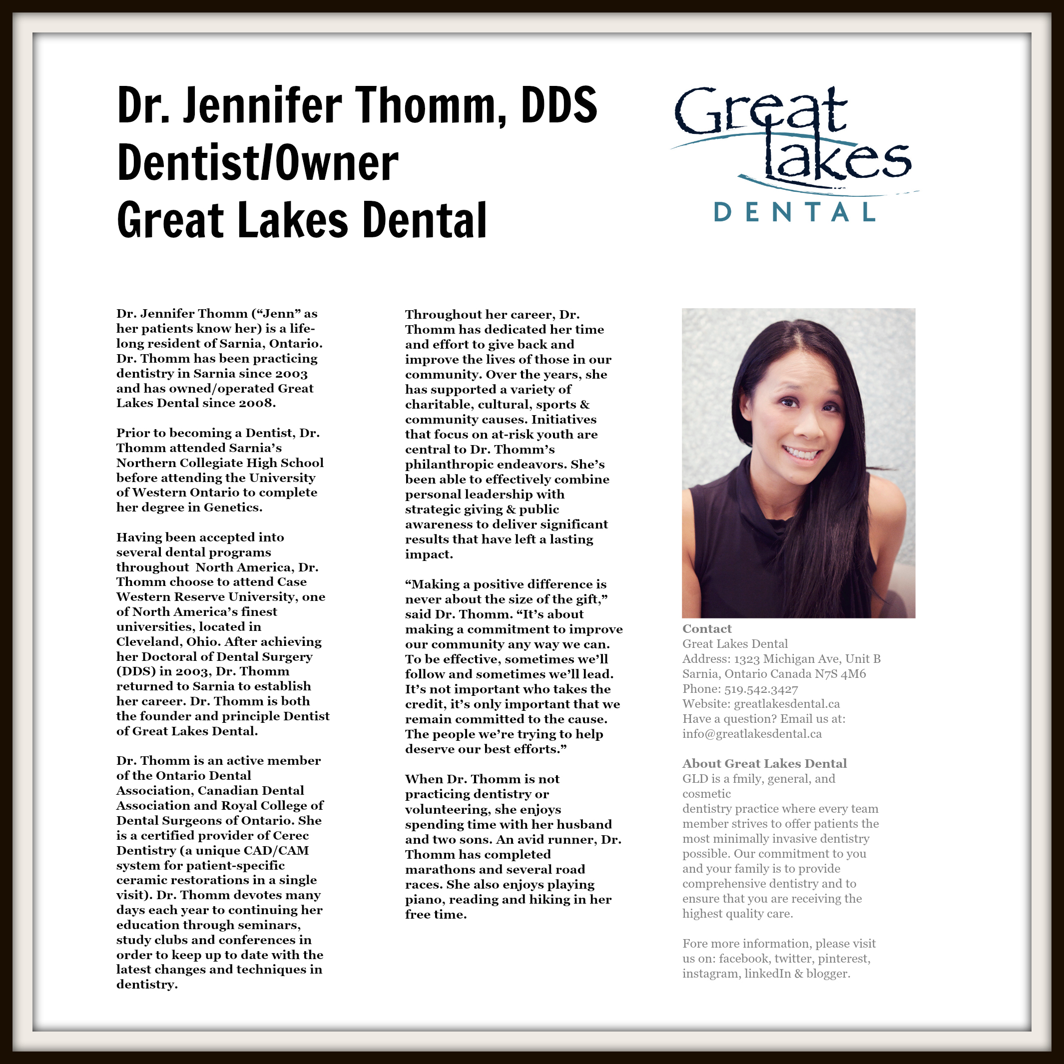 Dr. Jennifer Thomm Makes Record Breaking Donation in ...
