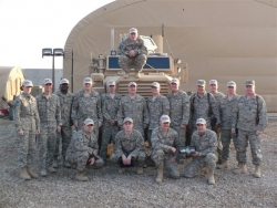 Iraq Troops Honor Flexfit Headwear in Appreciation of Donated Custom Embroidered Hats