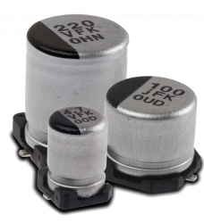 New, High Performance SMT Aluminum Electrolytic Capacitors