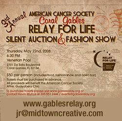 3rd Annual American Cancer Society Coral Gables Relay for Life Silent Auction and Fashion Show