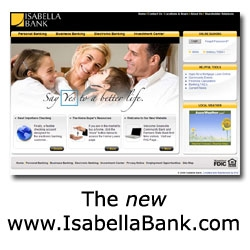 Isabella Bank's New Website Nominated for Award