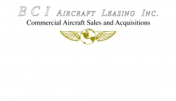BCI Aircraft Leasing, Inc. and Its President and CEO, Brian Hollnagel Announces Aviation Finance Scholarship Program