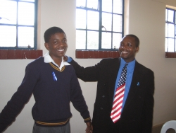 American Embassy Supports the End Malaria – Blue Ribbon Campaign in Botswana