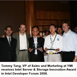 YMI Receives Intel 1st place Server Innovation Award for 2008