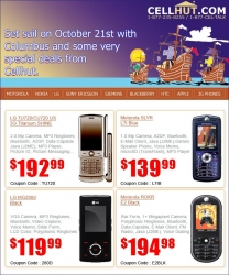 Cellhut Announces Special Columbus Day Discounts on Unlocked Phones
