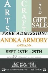 Fall Community Arts, Craft, and Gift Sale, Anoka Armory