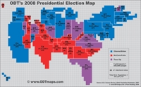 New Presidential Election Map Displays Importance of Toss-Up States