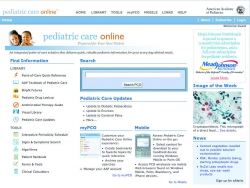 American Academy of Pediatrics Launches Pediatric Care Online™