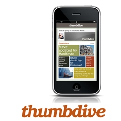 iPhone Web App Thumbdive Goes Beta to Bring People Together in Privacy