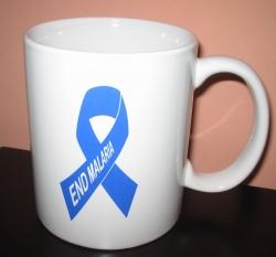 End Malaria – Blue Ribbon Mugs - for World Malaria Day 2009