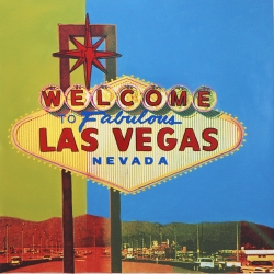 Steve Kaufman Has Been Asked to Create a 17 Feet X 70 Feet Mural at Las Vegas Convention and Visitor Authority (Lvcva) of the History of Las Vegas Casino