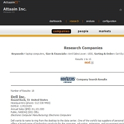 Attaain Inc., Announces the Addition of Comprehensive Hoover's Company Information Into the AttaainCI Competitive Business Intelligence System