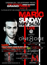 Supreme Magazine & Tatis Entertainment Present the Official Memorial Weekend Grand Finale with Mario Live in Concert at Suite 181