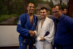 Connecticut Royce Gracie Brazilian Jiu Jitsu and MMA Congratulates Paul Bratslavsky, Jiu Jitsu & SuperKids Karate Coach, Promotion to Purple Belt in West Hartford CT