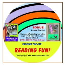 Reading Fun DVD .com Releases the Patches The Cat And Friends Reading Fun DVD Today