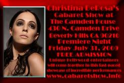 """""""Christina DeRosa Cabaret Show"""" at the Camden House"""