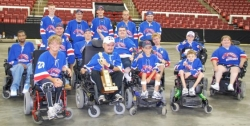 Michigan Mustangs Win Their First Wheelchair PowerHockey Championship in State History