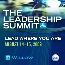 Willow Creek Association's Leadership Summit 2009 — CCN Edition Via Satellite.