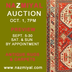 On October 1, 2009 Nazmiyal Will be Holding Their Second in a Series of Antique and Decorative Rug Auctions