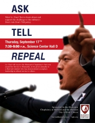 Fighting Don't Ask, Don't Tell at Harvard Harvard Humanists Honor Lt. Dan Choi for Commitment to Equal Rights