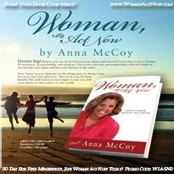 Author and Execution Coach, Anna McCoy to Host Woman Act Now Connect-Working Meeting in DFW Metroplex