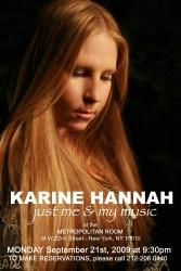 Karine Hannah Live at the Metropolitan Room