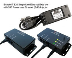 Industry's Lowest Cost Ethernet Extender Now Comes with Free Power Over Ethernet Injector