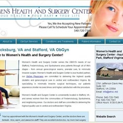 Women's Health and Surgery Center OB/GYN of Stafford, VA Partners with MDS Medical to Launch Re-Designed Website