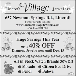 Holiday Sales Event – 40% Off Select In-Store Diamonds and Jewelry at Lincroft Village Jewelers