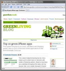 The Guardian Rates Joint Pocketweb and Volvo Solution as Top 4 Green iPhone App