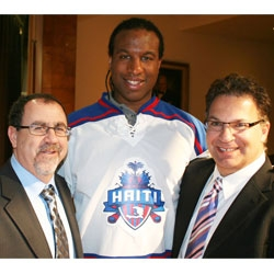 IceJerseys.com Teams with Georges Laraque to Launch Hockey for Haiti Jersey and Apparel Collection