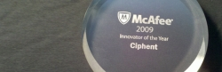 McAfee Names Ciphent 2009