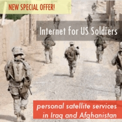 New Satellite Internet Services Offered to Military Personnel in Afghanistan