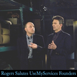 Rogers Salutes UseMyServices' Founders as 'Business Innovators'