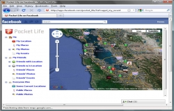Facebook Becomes Real Time Location Based - Pocketweb with First Deep Geo Integration