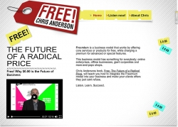 Editor-in-Chief of Wired Magazine Promotes Freemium Business Model on Wix Website