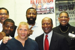 Secretary of State Jesse White Celebrates 1 Year Anniversary of the Will County Boxing Gym Along with Best Place to Live Bolingbrook Mayor Roger Claar and Others