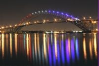 The Little Girl Who Lit the Bayonne Bridge with Patriotic LED Lights from LEDtronics