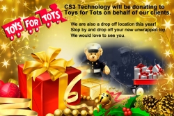 Toys for Tots Drop-Off Location Hosted by CS3 Technology