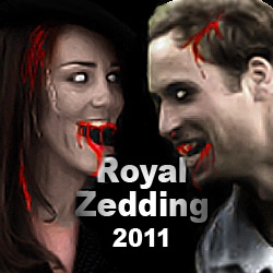 Prince William and Kate Middleton Eaten by Zombies at Royal Wedding in Binary Space's Game, Class 3 Outbreak