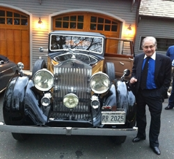 Vintage Cars Welcome Visitors to the Pierce Ball Gallery Opening of the Art of the Car Show