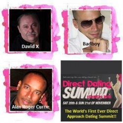Direct Approach Dating Summit DVD to Feature Alan Roger Currie and David X