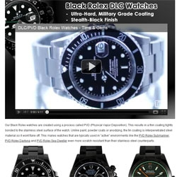 Time and Gems Offers Black PVD / DLC Coating Services for Swiss Watches Worldwide