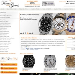 Time and Gems Announces Over One Thousand Rolex Watches in Stock - Currently the World's Largest Online Rolex Retailer