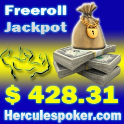 HerculesPoker Offers Easy Opportunity to Win $428.31 Freeroll Jackpot