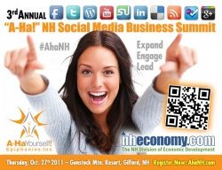 "Expand, Engage, and Lead at the 3rd Annual ""A-Ha!"" NH Social Media Business Summit"
