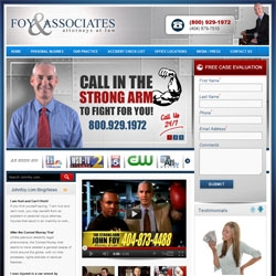 Atlanta's Strong Arm Attorney John Foy Launches New Interactive Website