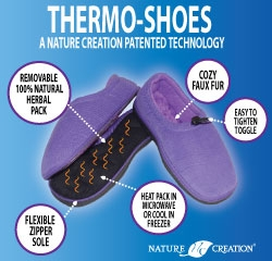 New Heatable Herbal Shoes Available by Nature Creation